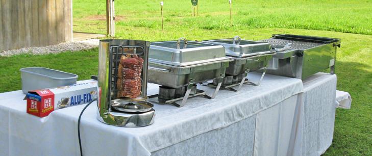 Buffetausstattung mit Grillstation