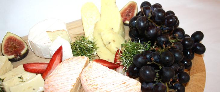 Arrangement an Käse