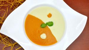 Cremige Karotten- oder Selleriesuppe
